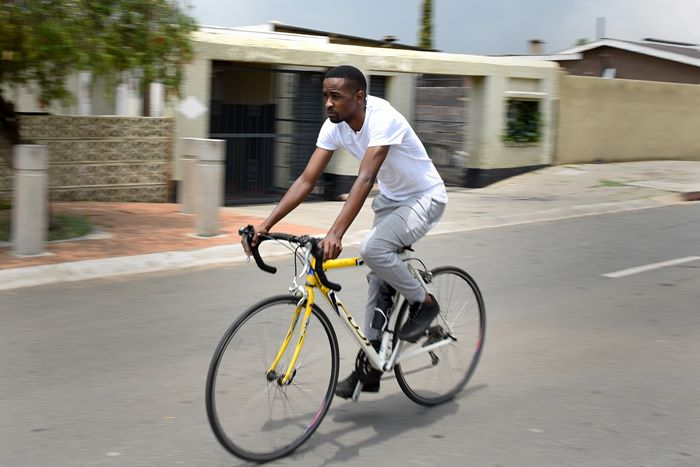 Book A Bicycle's Mpumelelo Mtintso out riding in Soweto. Picture: Refilwe Modise