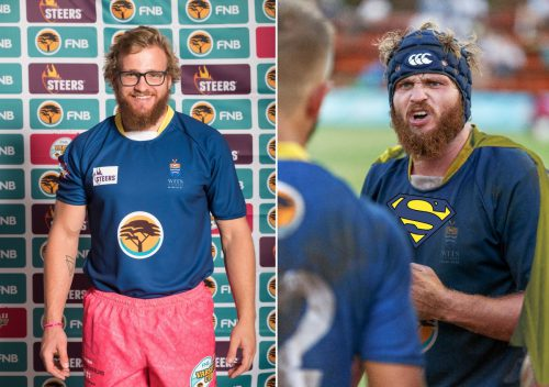 From mild-mannered to beast: Wits skipper Constant Beckerling. Photo: Varsity Cup/Twitter.