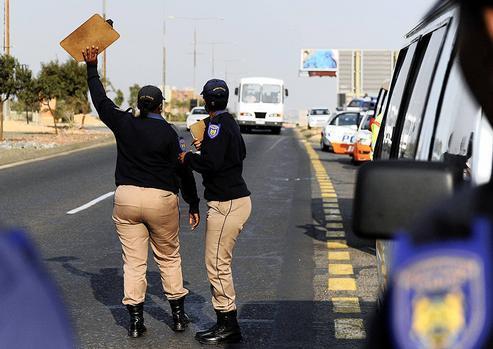 Metro Cops at a roadblock. For illustrative purposes. Picture: ANA