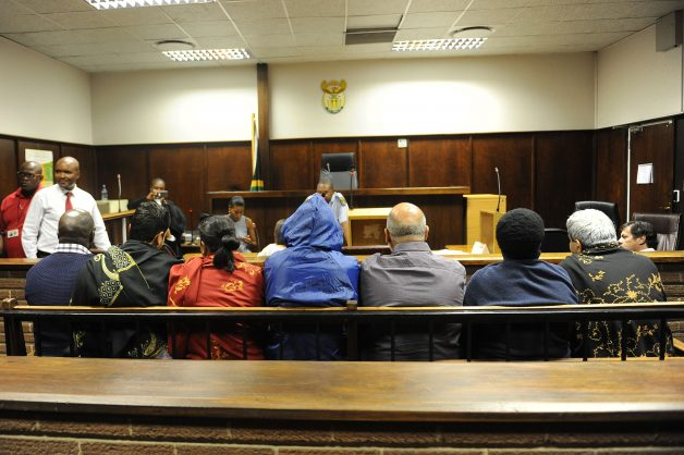 Bloemfontein-15/02/2018- 7 of 8 suspects who appeared at Bloemfontein magistrate court  in connection with charges of fraud and corruption, in the Vrede dairy farm project case.563 Photo: Matthews Baloyi/ANA/African News Agency