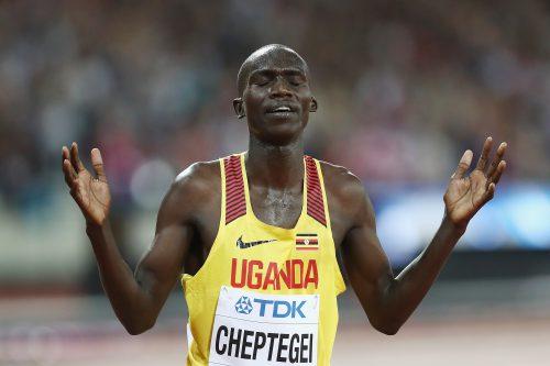 Joshua Cheptegei. (Photo by Alexander Hassenstein/Getty Images for IAAF)