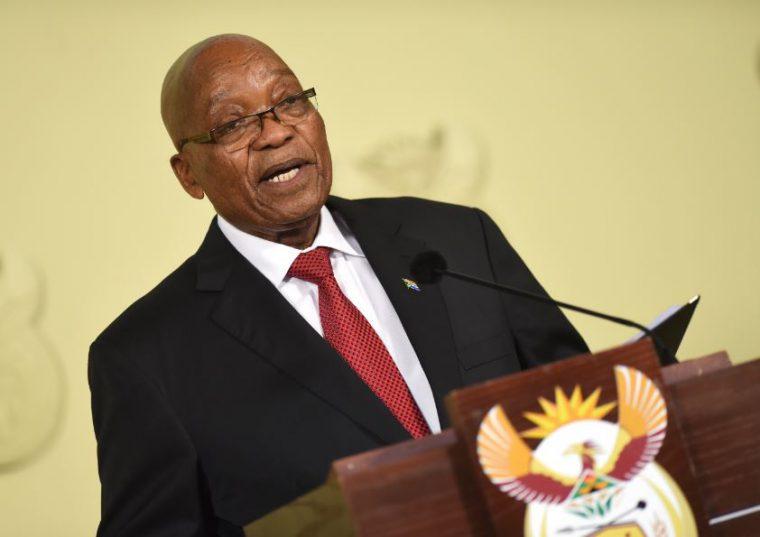 President Jacob Zuma at the Union Buildings. Image: Refilwe Modise