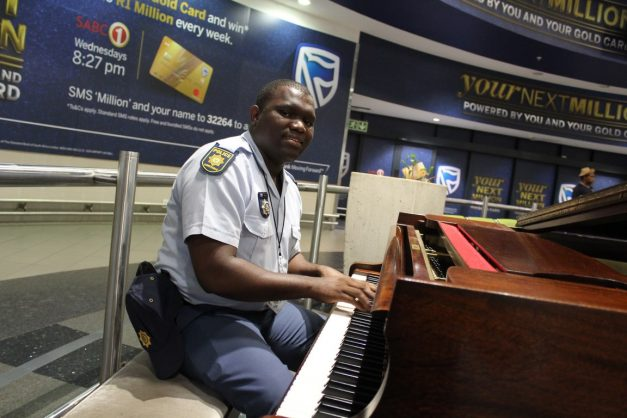 Constable Sizwe Khalala said he has been blown away by the response of travellers at King Shaka International Ariport since a video of him playing the piano went viral