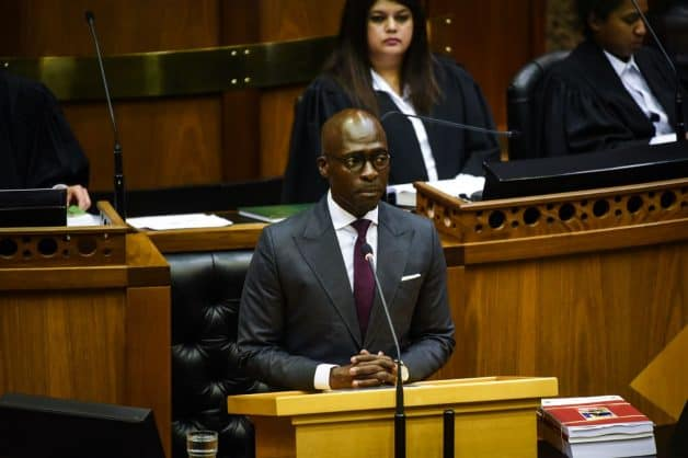 Finance Minister Malusi Gigaba delivering the budget speech in Cape Town. Picture: Jacques Nelles