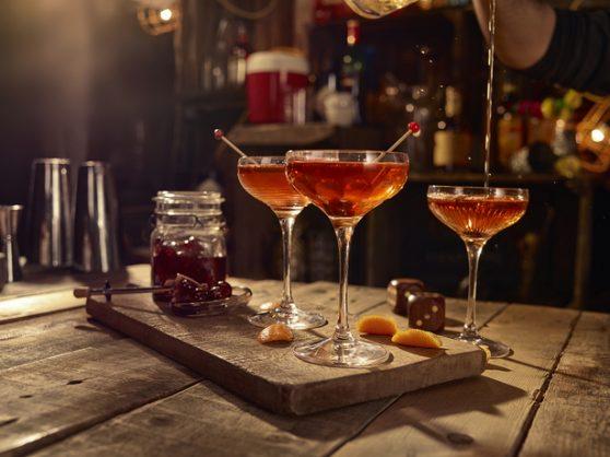 Monkey Manhattan cocktail.