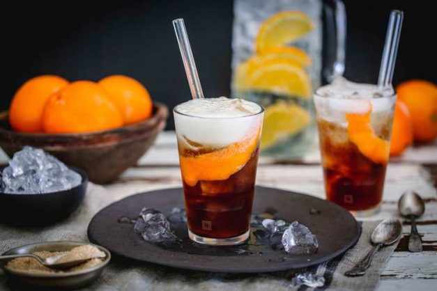 Coffee and tonic with orange. Picture: Supplied