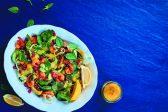 Recipe: Prawn, pumpkin seeds, pomegranate and avo salad