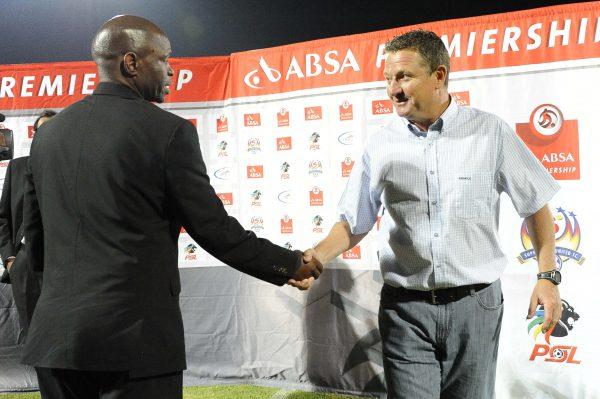 Steve Komphela, coach of Kaizer Chiefs and Gavin Hunt, coach of Bidvest Wits. (Photo by Frennie  Shivambu / Gallo Images)