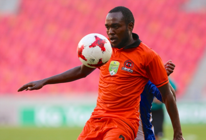 Mogau Tshehla of Polokwane City during the Nedbank Cup last 16 match between Chippa United and Polokwane City at Nelson Mandela Bay Stadium on April 08, 2017 in Port Elizabeth, South Africa. (Photo by Richard Huggard/Gallo Images)