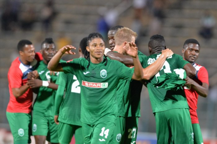 AmaZulu FC celebrates during the Absa Premiership match between Supersport United and AmaZulu FC at Lucas Moripe Stadium on January 31, 2018 in Pretoria, South Africa. (Photo by Lefty Shivambu/Gallo Images)