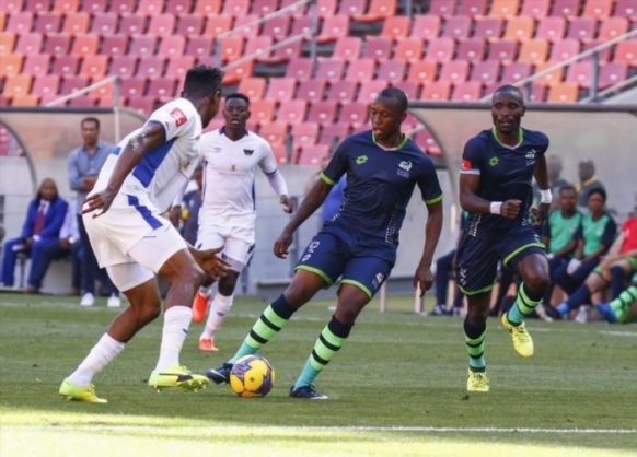 Letsie Koapeng of Platinum Stars during the Absa Premiership match between Chippa United and Platinum Stars at Nelson Mandela Bay Stadium on February 04, 2018 in Port Elizabeth, South Africa. (Photo by Michael Sheehan/Gallo Images)