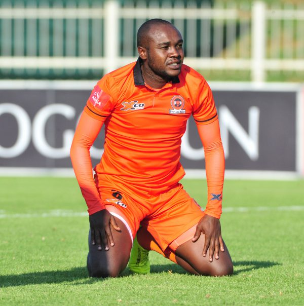 Mogau Tshehla of Polokwane City during the Absa Premiership match between Polokwane City and Ajax Cape Town at Old Peter Mokaba Stadium on February 04, 2018 in Polokwane, South Africa. (Photo by Philip Maeta/Gallo Images)