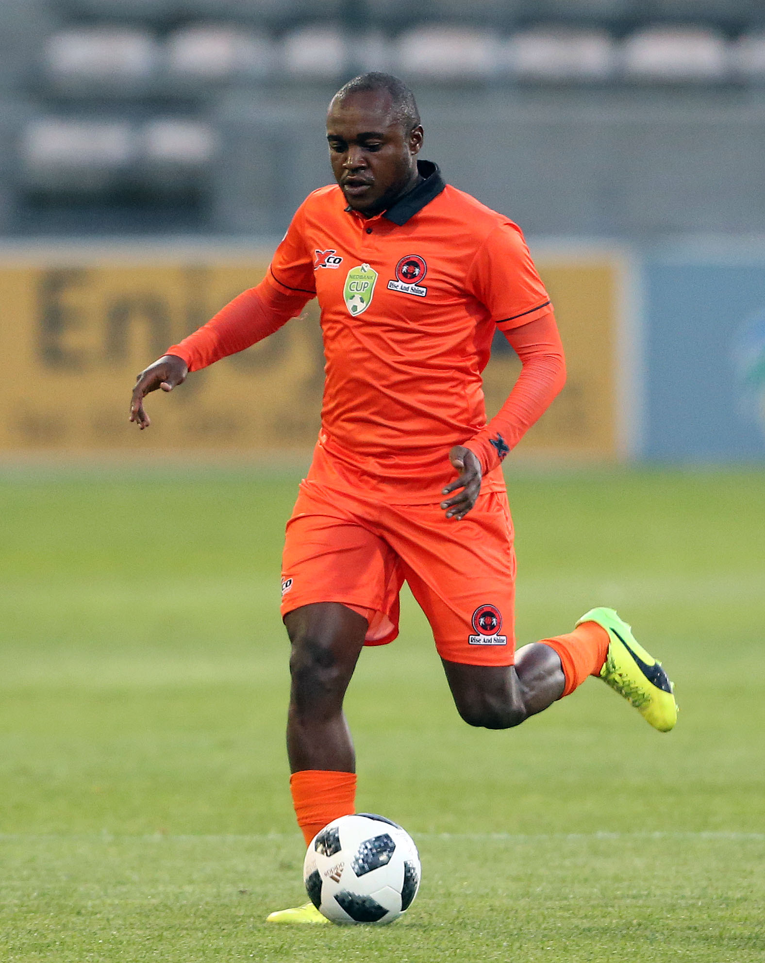 CAPE TOWN, SOUTH AFRICA - FEBRUARY 07: Mogau Tshehla of Polokwane City FC during the Nedbank Cup, Last 32 match between Ubuntu Cape Town and Polokwane City at Athlone Stadium on February 07, 2018 in Cape Town, South Africa. (Photo by Carl Fourie/Gallo Images)