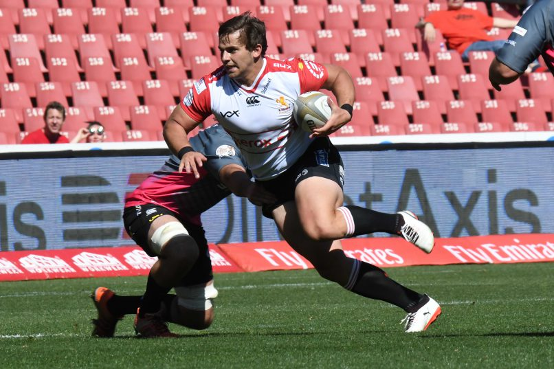 Rohan Janse van Rensburg is unlikely to switch to wing according to Lions coach Swys de Bruin. (Photo by Wessel Oosthuizen/Gallo Images)