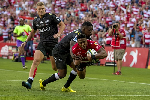 Aphiwe Dyantyi made a fine debut for the Lions. (Photo by Anton Geyser/Gallo Images)