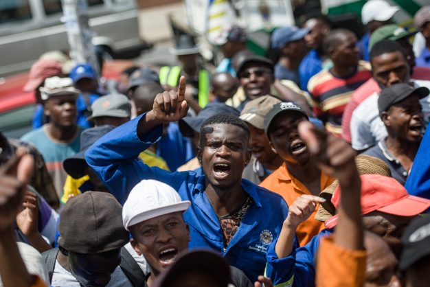 Tshwane Waste Workers are seen protesting outside Tshwane House demanding permenant employment from the City, 6 February 2018, Pretoria. Picture: Jacques Nelles