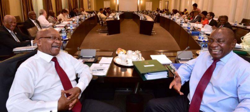Zuma and Ramaphosa: Image: SA Gov News