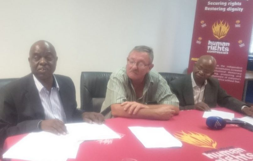 An agreement was signed between the SAHRC, Dr vd Berg and Limpopo Department of Health. Photo: @EileenIzette