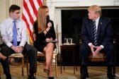 Trump meets shooting survivors, suggests arming teachers