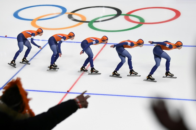 """Veteran US journalist Katie Couric apologised on Tuesday after she was relentlessly mocked for claiming Dutch success at the Olympics was because skating is an """"important mode of transport"""" in the Netherlands"""