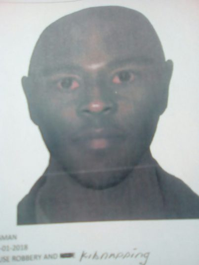 An identikit for one of the man who kidnapped the children.