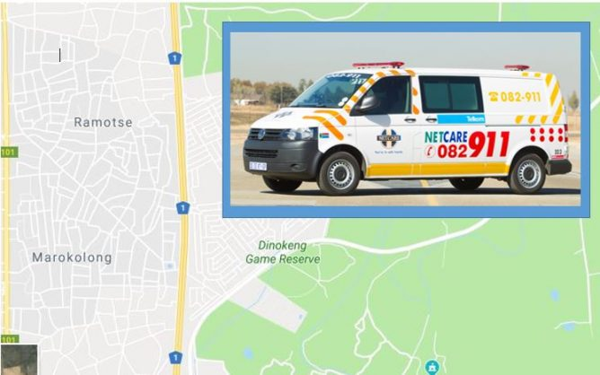 The area where the young woman was attacked. Image: Pretoria East Rekord