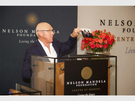 Horticulturist Keith Kirsten at the launch of the rose named after Nelson Mandela which was launched last Thursday at the Nelson Mandela Foundation.