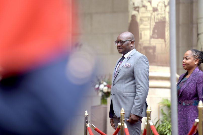 Premier David Makhura is pictured ahead of delivering the Gauteng state of the province address yesterday.  Picture: Tracy Lee Stark