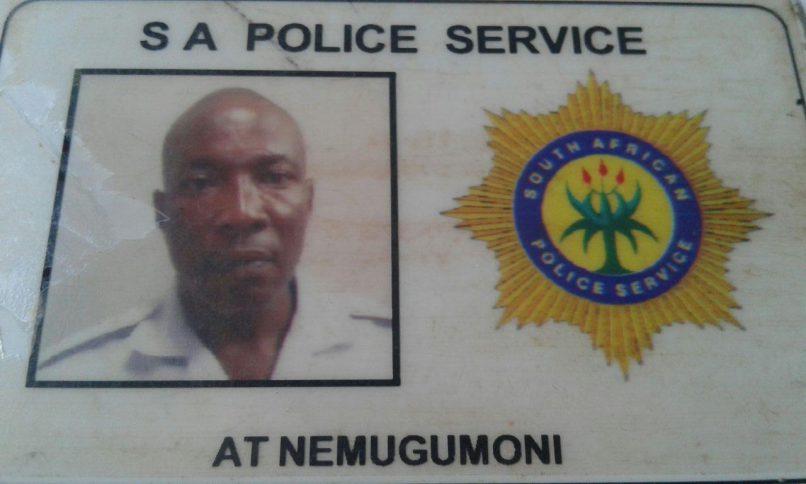 Warrant Officer Thomas Alugumi Nemugumoni. Photo: Lim SAPS