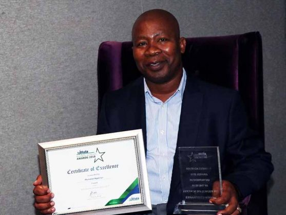 Phumlani Ngwenya from Pongola in KZN took the first position in this years business achievement awards Image via: ANA