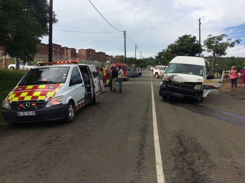 Taxi and motorbike collide, one dead and eight injured in Pietermaritzburg
