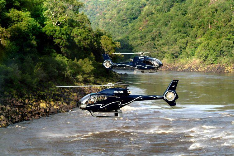 helicopter. victoria falls, batoka gorge