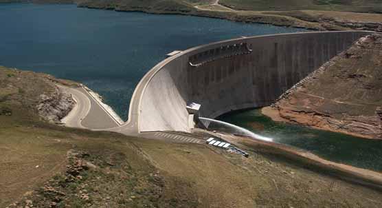 Katse Dam, part of Lesotho Highlands Water Project. LHWP Website.