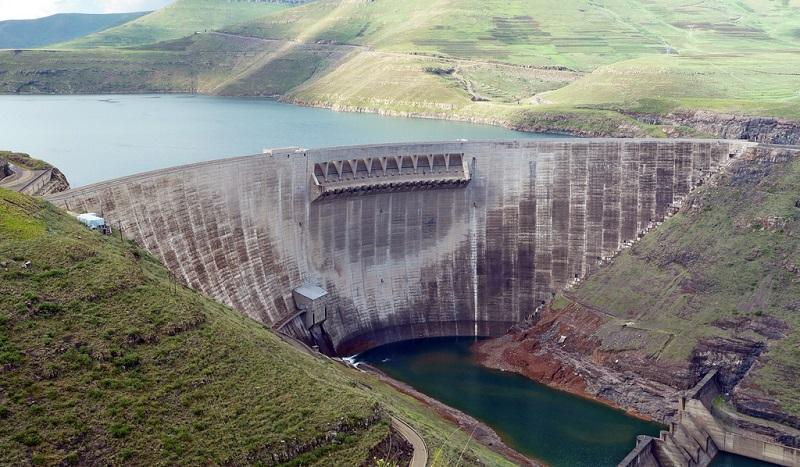 The concrete arch Katse Dam in Lesotho. Image: World Bank.