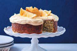 Recipe: Lemon-poppyseed cake with cream cheese and lemon curd icing