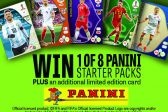 8 PANINI STARTER PACKS PLUS 8 LIMITED EDITION CARDS UP FOR GRABS!