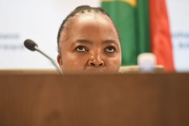 Former SASSA CEO Pearl Bhengu is seen during a press briefing in Tshwane on 8 March 2018. Picture: Refilwe Modise