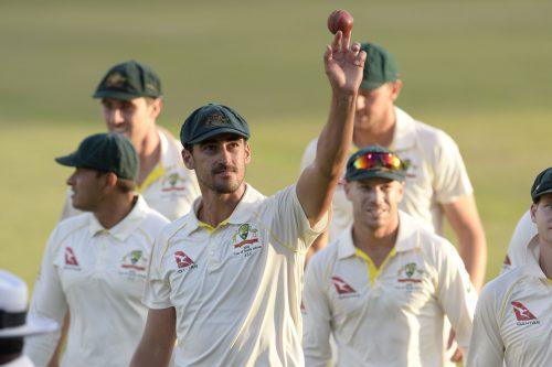 Australia's Mitchell Starc was generally unplayable. (Photo by Lee Warren/Gallo Images)