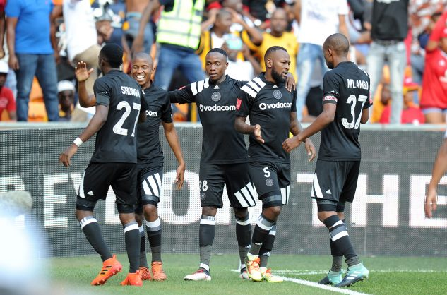 Johannesburg South Africa March  Luvuyo Memela Of Orlando Pirates Celebrating His Goal