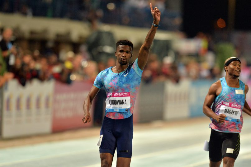 Anaso Jobodwana celebrates a momentous win. (Photo by Lefty Shivambu/Gallo Images)