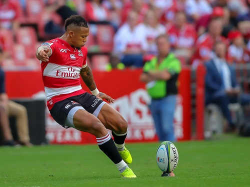 Elton Jantjies ready to help out the Lions' new skip