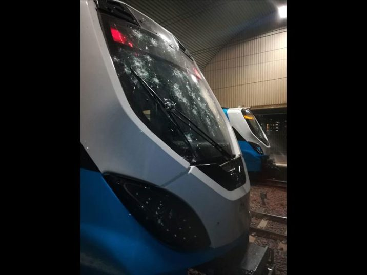 New Prasa trains were  recently damaged by a group of people at the Pretoria train Station. Photo: Thato Mahlangu