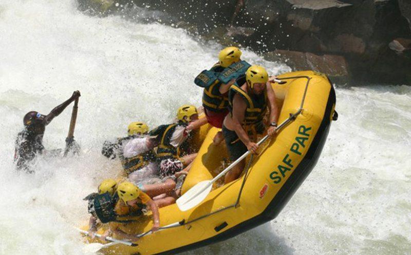water rafting, zambezi river