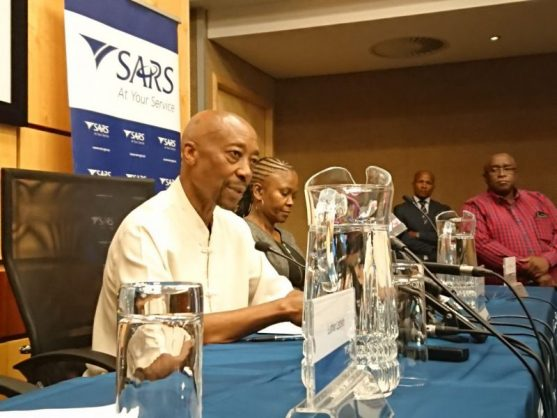 Tom Moyane, SARS commissioner, during a press briefing about the resignation of SARS official Jonas Makwakwa. Picture: Jacques Nelles