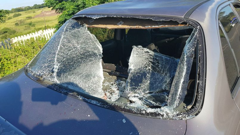 The vehicle managed to come to a stop approximately 100 metres away from the point of impact.