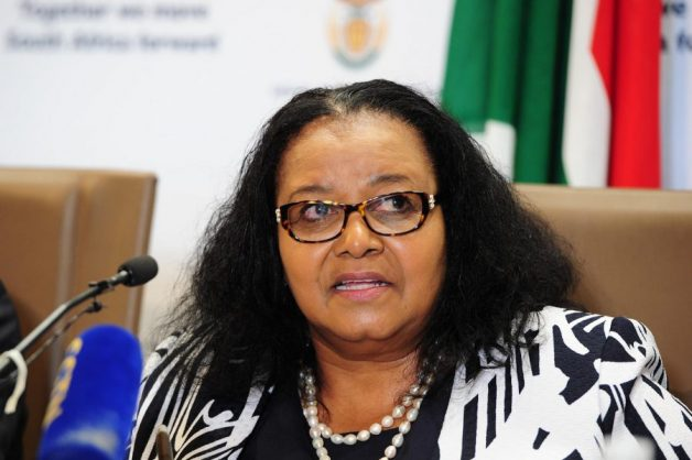 Environmental affairs minister Edna Molewa published the climate change bill in June 2018. Picture supplied.