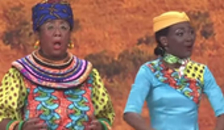 A skit on China's English language TV station CCTV's Spring Festival Gala featuring 'blackface' actors has gone viral. Supplied