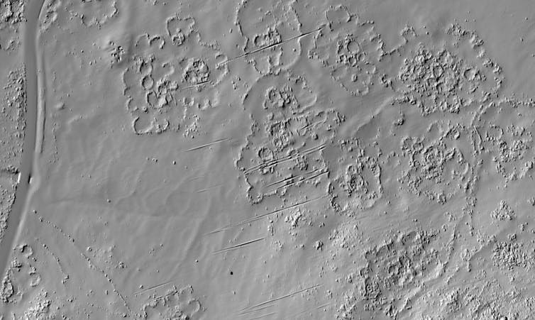 "LiDAR, was used to ""redraw"" the remains of the city, along the lower western slopes of the Suikerbosrand hills near Johannesburg."
