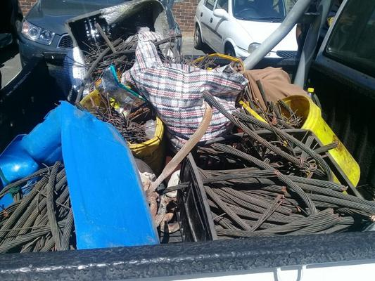 A 25-year-old man and a 30-year-old woman have been arrested for possession of stolen property. Image: SAPS