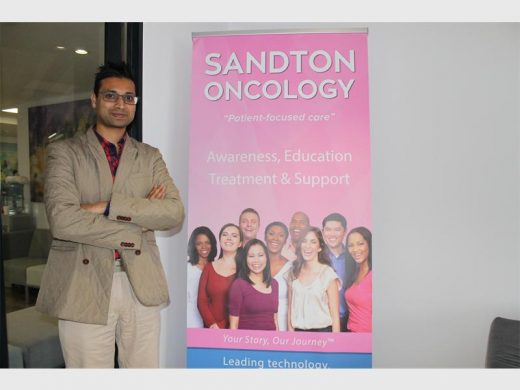 Director the radiation practice at Sandton Oncology Dr Sudeshen Naidoo stands outside his practice at 200 Rivonia Road, Morningside. Photo: Sarah Koning